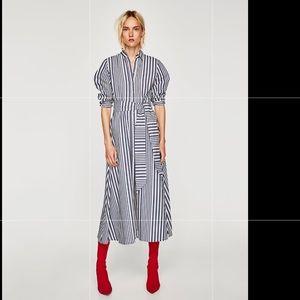 Zara Dresses - Zara striped shirt-style tunic